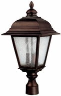 Capital Lighting 9967BB Brookwood Traditional Burnished Bronze Exterior Post Lighting