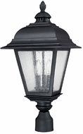 Capital Lighting 9967BK Brookwood Traditional Black Outdoor Post Lamp