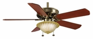 Casablanca 4944D Concentra Antique Brass Finish Transitional Ceiling Fan With Optional Blades
