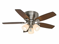 Casablanca 53187 Durant Brushed Nickel Finish 44  Wide Ceiling Fan