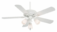 Casablanca 54005 Ainsworth Gallery Transitional Style Cottage White Finish Ceiling Fan Light