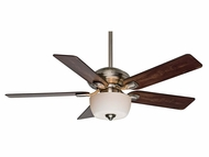 Casablanca 54042 Utopian Gallery Transitional Brushed Nickel Finish Ceiling Fan With Light Kit