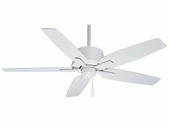 Casablanca 54122 Areto Snow White Finish Ceiling Fan - 60  Wide