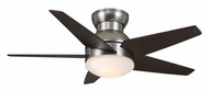 Casablanca 59019 Isotope Modern Brushed Nickel Ceiling Fan Lighting - 44 Inch Span