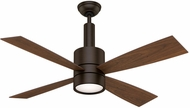 Casablanca 59069 Bullet Brushed Cocoa Halogen 54  Burnt Walnut Home Ceiling Fan