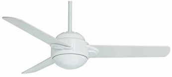 Casablanca 59082 Trident Modern Snow White Finish 54  Wide Home Ceiling Fan
