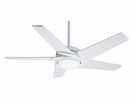 Casablanca 59091 Stealth� Contemporary Snow White Finish 54  Wide Ceiling Fan