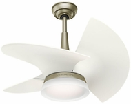 Casablanca 59137 Orchid Contemporary Pewter Revival LED Indoor / Outdoor 30 Architectural White Home Ceiling Fan