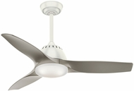 Casablanca 59149 Wisp Small Room Contemporary Fresh White LED 44  Pewter Home Ceiling Fan