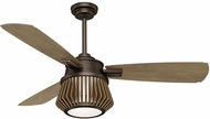 Casablanca 59162 Glen Arbor Metallic Chocolate LED 56  Weathered Timber Home Ceiling Fan