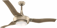 Casablanca 59168 Perseus Modern Metallic SunSand LED Interior / Exterior 64  Drift Oak Ceiling Fan