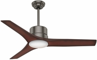 Casablanca 59195 Piston Contemporary Brushed Slate LED Indoor / Outdoor 52  Coffee Beech Home Ceiling Fan