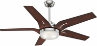 Casablanca 59198 Correne Brushed Nickel LED 56  Coffee Beech Ceiling Fan
