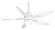 Casablanca 64660 Modena II Snow White Finish Contemporary Ceiling Fan Light Fixture
