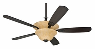 Casablanca 66126 Veneto 68 Inch Span Bullion Black Ceiling Fan Lighting With Espresso Blades