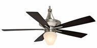 Casablanca C42G5L Colorado Brushed Nickel Finish Walnut Blade Ceiling Fan Light
