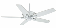 Casablanca CAS-54083 Academy Snow White 52 Inch Span 5 Blade Ceiling Fan Motor With Blade Options