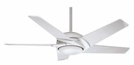 Casablanca CAS-C45G11B Stealth DC 54 Inch Span 5 Blade Ceiling Fan Light - Snow White
