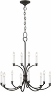 C&M by Chapman & Myers CC10612SMS Westerly Smith Steel Chandelier Light