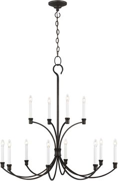 C&M by Chapman & Myers CC10712SMS Westerly Contemporary Smith Steel Lighting Chandelier