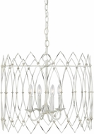 Chapman & Meyers CC1144RWT Gardner Contemporary Rustic White 22.5  Pendant Lighting