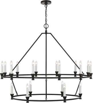 C&M by Chapman & Myers CC11818AI Keystone Contemporary Aged Iron Chandelier Light