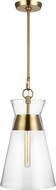 Chapman & Meyers CP1021BBS Atlantic Modern Burnished Brass Pendant Light Fixture