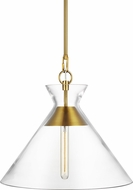 Chapman & Meyers CP1031BBS Atlantic Modern Burnished Brass Hanging Pendant Lighting