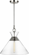 C&M by Chapman & Myers CP1031PN Atlantic Contemporary Polished Nickel Pendant Lighting Fixture
