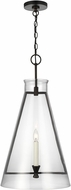 C&M by Chapman & Myers CP1091AI Keystone Contemporary Aged Iron Hanging Light Fixture