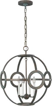 C&M by Chapman & Myers CP1194IP Green Park Contemporary Iron Port Hanging Light Fixture