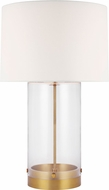 C&M by Chapman & Myers CT1001BBS1 Garrett Contemporary Burnished Brass Table Lamp