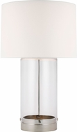 C&M by Chapman & Myers CT1001PN1 Garrett Contemporary Polished Nickel Table Light