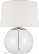 C&M by Chapman & Myers CT1021PN1 Atlantic Contemporary Polished Nickel Lighting Table Lamp
