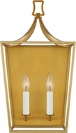 Chapman & Meyers CW1012BBS Southold Contemporary Burnished Brass 2-Light Bathroom Sconce