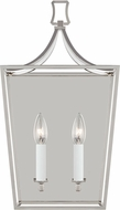 Chapman & Meyers CW1012PN Southold Contemporary Polished Nickel 2-Light Bath Sconce