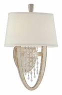 Corbett 10612 Viceroy Crystal Wall Sconce in Antique Silver