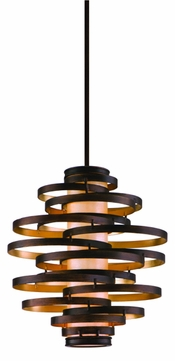 Corbett 113-43 Vertigo Modern Pendant Light in Bronze