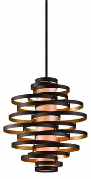 Corbett 113-44 Vertigo Large Modern Pendant Light in Bronze