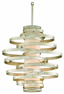 Corbett 12842 Vertigo Small Modern Pendant Light in Silver