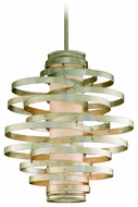 Corbett 12843 Vertigo Modern Pendant Light in Silver
