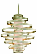 Corbett 12844 Vertigo Large Modern Pendant Light in Silver