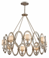 Corbett 134-48 Embrace Medium 32 Inch Diameter 8 Lamp Pendant Lighting Fixture