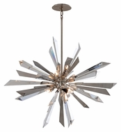 Corbett 140-47 Inertia 36 Inch Diameter Large Silver Leaf Finish Ceiling Light Pendant