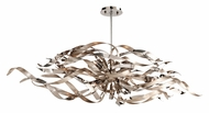 Corbett 154-56 Graffiti 6 Lamp Silver 47 Inch Long Island Pendant Lighting