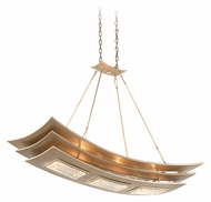 Corbett 155-56 Muse 45 Inch Long Contemporary Pendant Island Light - Tranquility Silver Leaf