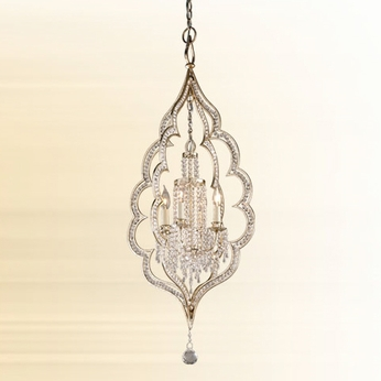 Corbett 16144 Bijou Small 4-light Crystal Entryway Foyer Light Fixture