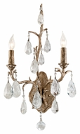 Corbett 163-12 Amadeus Wall Mounted 21 Inch Tall Vienna Bronze Crystal Candle Sconce