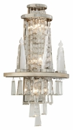 Corbett 170-13 Illusion Large Silver Leaf 21 Inch Tall Wall Light Sconce