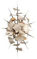 Corbett 175-14 Poetry Modern 27 Inch Tall Tranquility Silver Leaf Wall Lighting